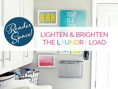 IHeart Organizing: Reader Space: Lighten & Brighten the Laundry Load wire baskets, laundry baskets