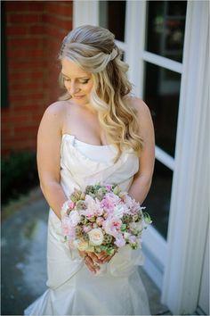 long wedding hair idea #bride #weddinghair #weddingchicks http://www.weddingchicks.com/2014/03/11/newport-beach-glittery-pink-wedding/