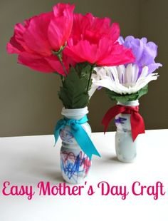 Easy Mothers Day Craft For Kids - Pinned by @PediaStaff  Please Visit ht.ly/63sNt for all our pediatric therapy pins