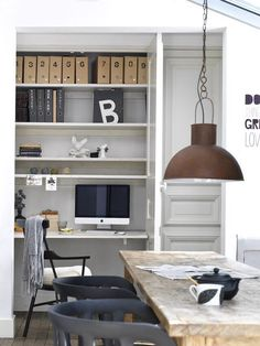 Rustic office space.