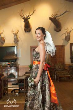 Realtree APG Camo Wedding Dress - Stun the room.