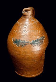 A. Warne, South Amboy, NJ Stoneware Jar