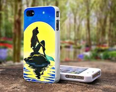 In the moon ariel the little mermaid iPhone 4 4S case , iPhone 5 Case samsung Galaxy S2 case, samsung Galaxy S3 case. $15.99, via Etsy.
