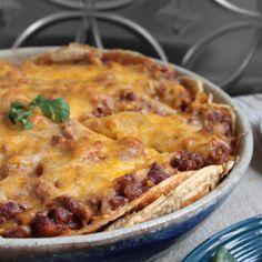 I Breathe... I'm Hungry...: Cheesy Chorizo Enchilada Pie