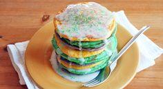 King cake pancakes...Happy Fat Tuesday!
