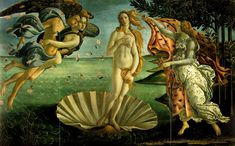 Sandro Botticelli's 'The Birth of Venus' from 1486 is probably the best known Venus of them all and she is still used as a reference point today for many artists. favorit place, artsi fartsi, de venus, sandro botticelli, boticelli, artist, births, nacimiento de, botticelli birth