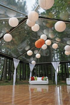 For this wedding reception at the Gatekeeper's Museum at Tahoe City, Camelot installed this 20-by-30-foot clear top for dancing and a lounge area and a 40-by-50-foot dinner tent and added lighting and accessories. Photo courtesy of Camelot Party Rentals