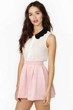 Scuba Skater Skirt - Blush
