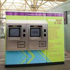 """""""Simple stand-alone A 24/7 virtual stand-alone branch, the LibDispenser® enables patrons to enact simple lending, renewal, and returns of all types of media. Available for indoor or outdoor use, this self-maintaining library can be expanded and customized to meet the library's specific needs."""""""