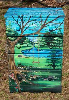 Tree Painted Dresser