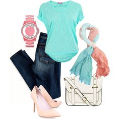 """""""Cotton Candy"""" by sharon-grisnich on Polyvore"""