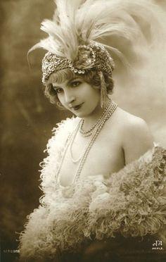 Vintage dancer jean, silent film, theme parties, vintage, 1920s party, young women, vintag dancer, feather, flapper girls