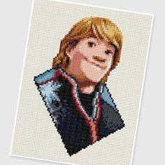 PDF Cross Stitch pattern : 0208.Kristoff (Frozen) by PDFcrossstitch