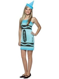 Teen Crayola Sky Blue Costume at Costume Supercentre