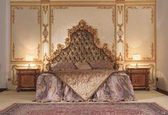 Italian Capitone Bedroom in Baroque Style - Classic Furniture and Classical interior Design Ideas
