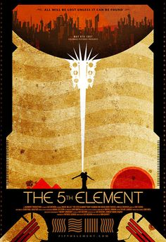 Fifth Element, minimalist movie poster