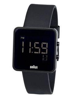 BRAUN Black Digital Watch