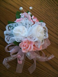 Baby Sock Corsage for Mother to on~ Etsy