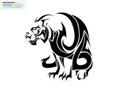 Big Evil Tribal Tiger Tattoo tattoo idea, chines symbol, tattoo artimagin, tattoo tiger, chines tiger, tigers, tribal tiger tattoo, dragon tattoo, animal tribal tattoos