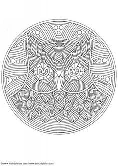animal mandala coloring pages