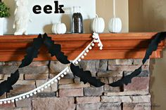 Halloween Bat Garland {Tutorial} - Just Another Day in Paradise