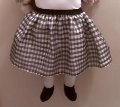 Girls Tutu black white plaid with black elastic Band $10 FREE headband .....SHOP NOW @   Have Heart Daily – A Shopintoit Store