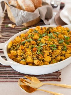 Southwestern-Style Poblano Cornbread Stuffing - Recipes for Your Thanksgiving Feast on HGTV