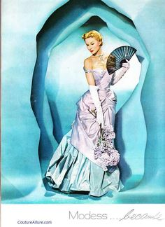 new looks, models, 1949, allur vintag, vintag fashion, modessbecaus ad, gowns, couture, 40s fashion