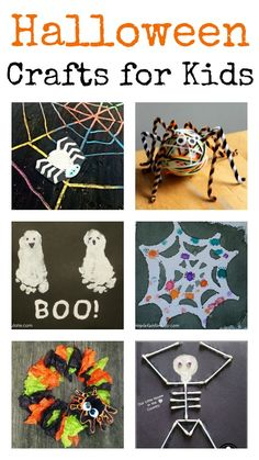 Fun Halloween crafts for kids :: great art techniques for spiders, ghosts, skeletons and pumpkin crafts