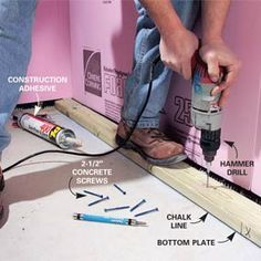 construction methods on pinterest basements wet