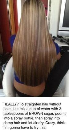 Straighten Hair With No Heat