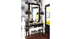 sophisticated black & white entry