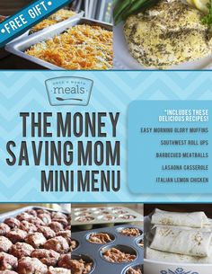 Sign up for your FREE printable Freezer Cooking Mini Menu from Once a Month Meals --> http://bit.ly/1sY4Yxs