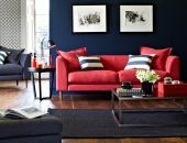 Red Sofa On Pinterest Home Accessories Couch