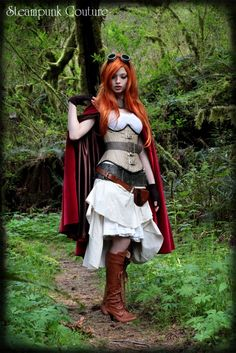 costum, cosplay, little red, red riding hood, hoods, red ride, corset, steampunk red, ride hood