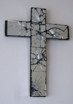I rather like religious images/icons too: mirrored crucifix