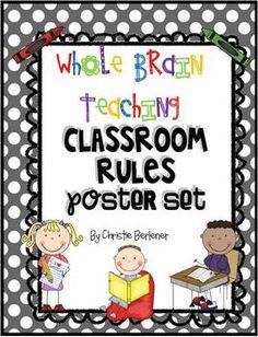 Whole Brain Teaching Classroom Rules Poster Set- free