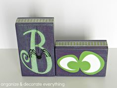 Boo Blocks with Glow-in-the-dark Vinyl - Organize and Decorate Everything