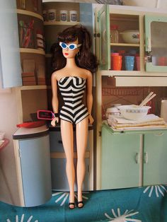 retro barbie house  she looks like the midge doll from the 60's