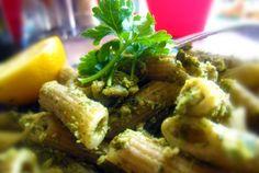 Easy Artichoke Pesto Pasta. Double this and eat it always.