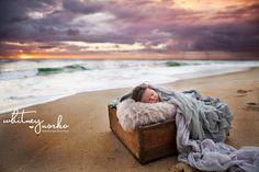 Newborn beach photography Outer Banks NC #beachbaby #waterbaby #beach #newborn