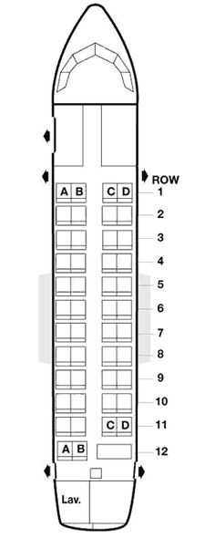 american airlines atr 42 seating map aircraft chart
