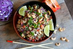 Thai Cashew Quinoa with Ginger Peanut Sauce by alaskafromscratch #Quinoa #Thai #Cashew