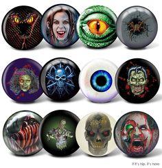 Something Wicked This Way Rolls. 12 Creepy Bowling Balls. | http://www.ifitshipitshere.com/scary-bowling-balls/