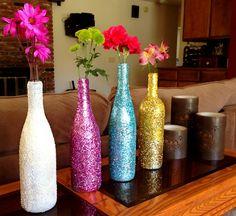 diy glitter bottle | Creative DIY Apartment Decorating Ideas