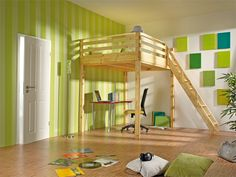 Hochbett on Pinterest  Loft Beds, Loft Bed Plans and Loft