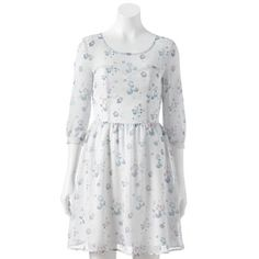 LC Lauren Conrad Floral Chiffon Fit & Flare Dress - Women's #Kohls