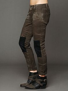 FP Patched Twill Herringbone Pant http://www.freepeople.com/whats-new/fp-patched-twill-herringbone-pant/