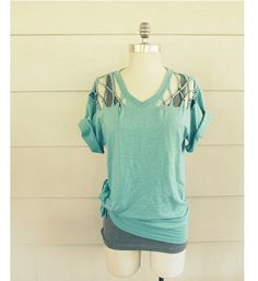 Tutorial: No-sew lattice cutout t-shirt refashion