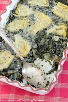 Spinach, Artichoke & Cream Cheese Casserole